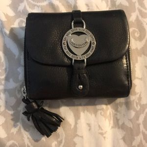 Juicy couture black real leather wallet